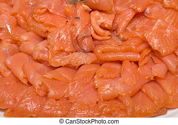 Sliced salmon fillet