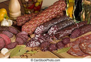 sliced sausage
