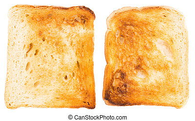 Sliced Toast Bread isolated on white background, top view