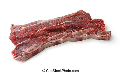 sliced veal chop. Raw beef