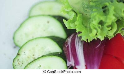 Sliced ??vegetables