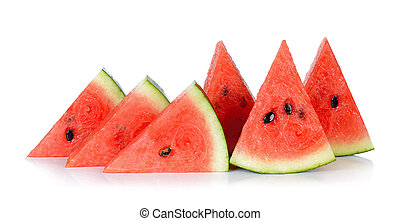 Sliced watermelon isolated on the white