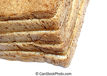 Sliced Wheat Bread on white background