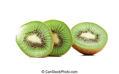 Slices kiwi fruits. Close-up.