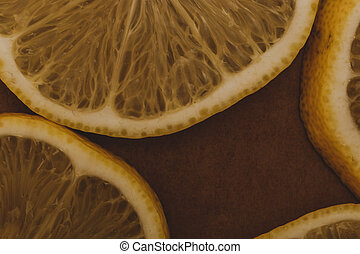 Slices of a lemon