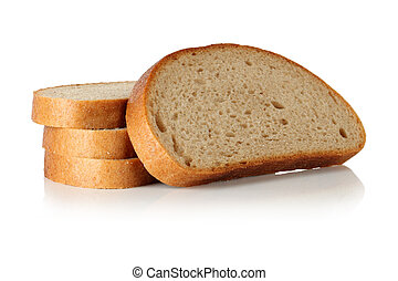 Slices of bread.