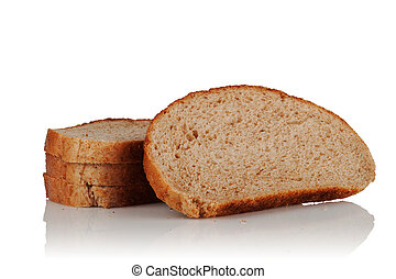 slices of bread from wheat flour