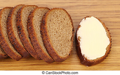Slices of bread isolated on a white background.