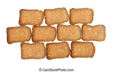 slices of bread isolated on white