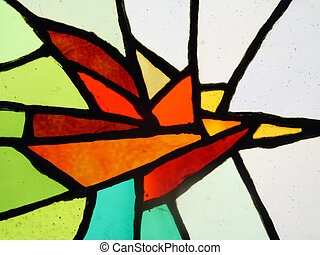 Slices of colour glass