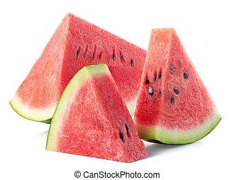 Slices of fresh ripe watermelon