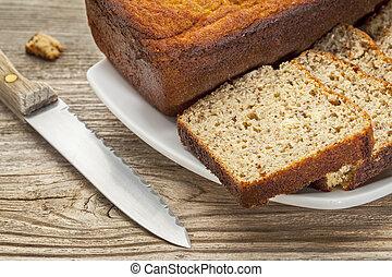 gluten free bread - slices of freshly baked, gluten free ...