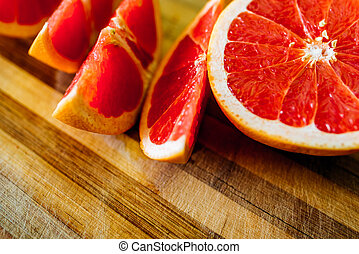 slices of grapefruit on a plate