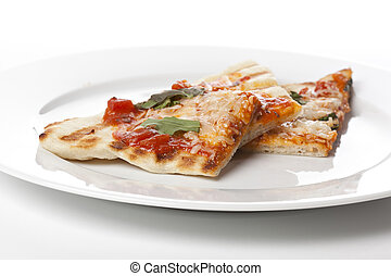 Slices Of Homemade Margarita Pizza