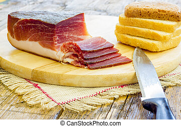 Slices of Italian Speck