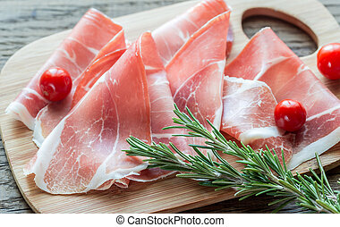 Slices of jamon