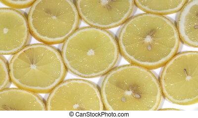 Slices of lemon fruit
