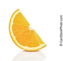 Slices of Orange Isolated on White Background