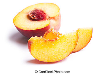 slices of peach