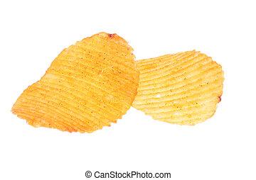 slices of potato chips