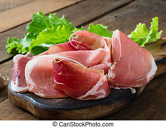 Slices of Prosciutto