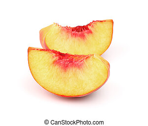 Slices of ripe peach