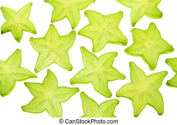 Slices of Star Fruit