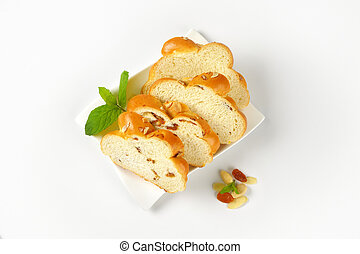slices of sweet braided bread