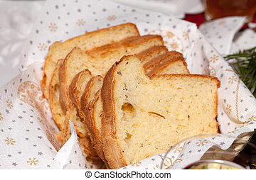 slices of the fresh bread