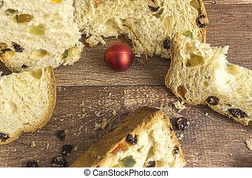 Slices of traditional Italian Christmas Dessert