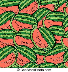 Slices of watermelon. Seamless background.