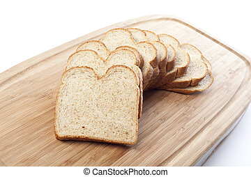 Slices of wheat bread