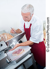 Slicing ham