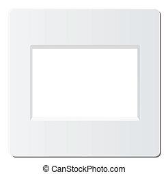slide photo frame - slide frame for 35mm format, vector is...