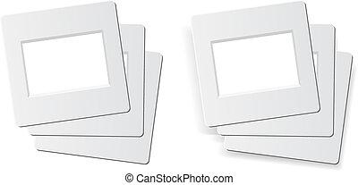 slide photo frames - slide frames for 35mm format, 1 stack...