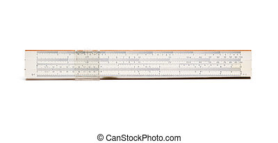 Slide rule isolated on white background