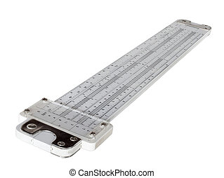 Slide rule - Plastic slide rule with trigonometric functions...