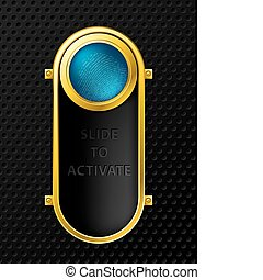Slide to activate function background design