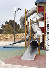 Slide tower at playground