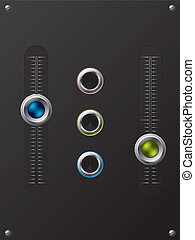 Slideable volume knobs with holes