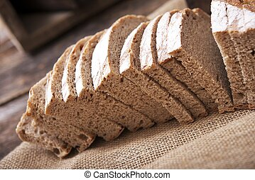 slided, centeno, recientemente, bread