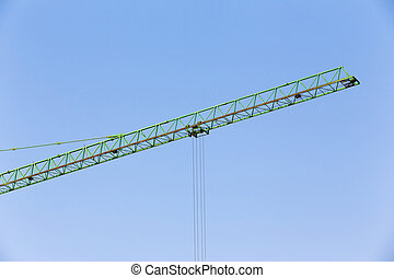 slider of crane on for construction