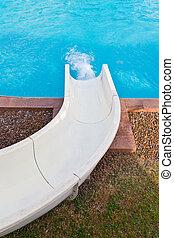slider of swimming pool
