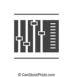 Sliders and faders. Vector illustration