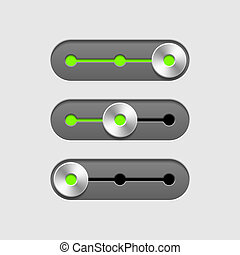 Sliders vector illustration
