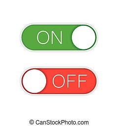sliders, vecteur, rouge vert, fermé