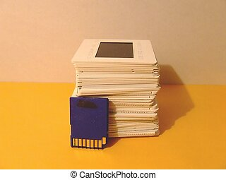 Slides and memory card