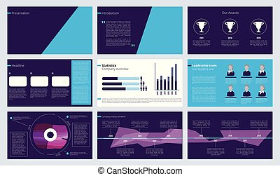 Slideshow template. Business magazine pages or annual report...