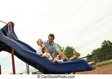Sliding Fun with Dad