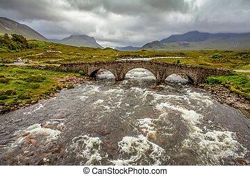 Sligachan Bridge Isle of skye Highland Scotland